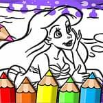 Ariel The Mermaid Coloring Book