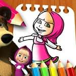 Masha & the Bear Coloring Book