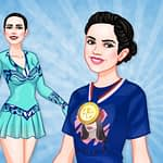 Young Figure Skaters Ellie and Jenny